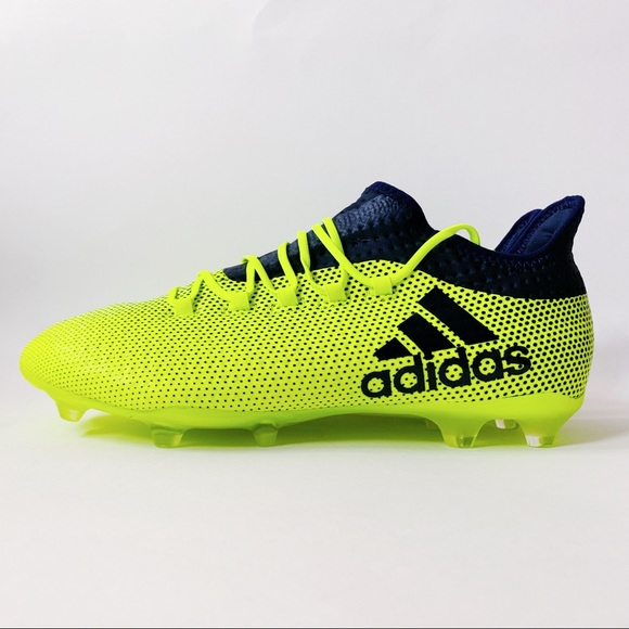 newest 679e0 bc293 Adidas X 17.2 FG Soccer Cleats Mens Size 9 Neon